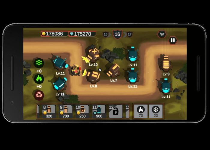 بازی آفلاین موبایلی دفاع ترکیبی